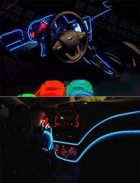 araç içi torpido ledi olarak kullanılan ip neon