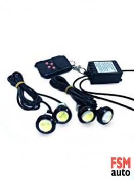 Kumandalı Çakar Kartal Gözü LED