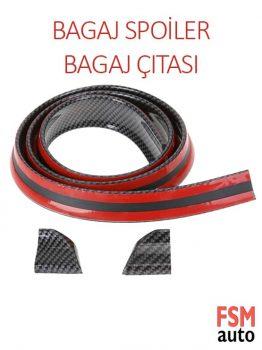 Bagaj Üstü Spoiler Karbon Fiber / 3D Bagaj Çıtası