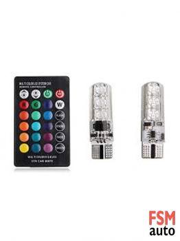 T10 Kumandalı Slikon LED Ampül / W5W