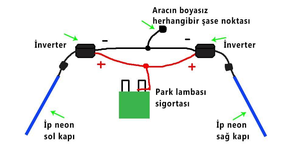 torpido ledi elektrik bağlantısı
