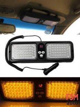 Sarı Çakar LED Lamba Güneşliğe Takılabilen Pratik Çakar