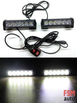 Beyaz Çakar Lamba (12 Adet Boncuk LED) A Kalite