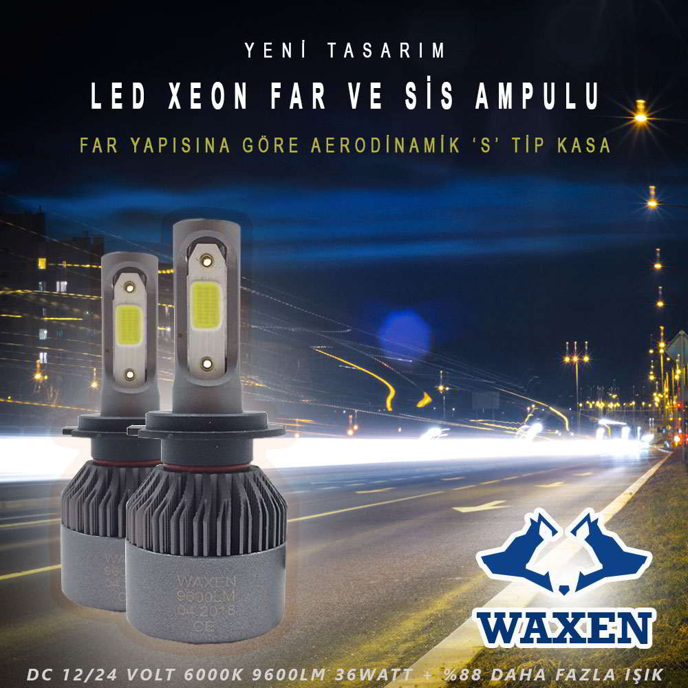 waxen led zenon şimşek etkili led