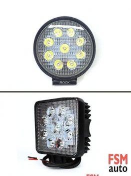 LED Yuvarlak / Kare Çalışma Lambası (Off-Road Sis Lambası)