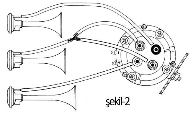havalı korna montaj şeması