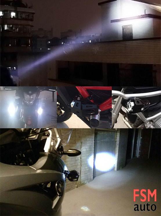 motosikler 3 modlu çakar sis farı