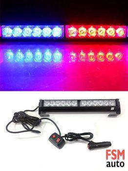 12 LED Kırmızı Mavi 7 Mod Çakar Lamba