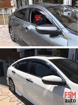 Honda Civic FC5 Kromlu Cam rüzgarlığı ( 2016- Sonrası )