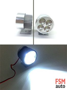 Oval 4 LED Spot Işık (SUV, Off-road, Motosiklet)