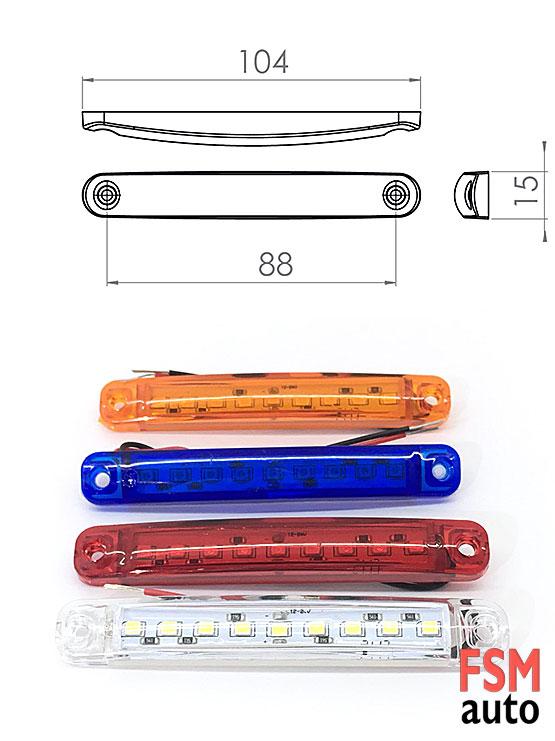 parmak led 12 volt ve 24 volt uyumludur.