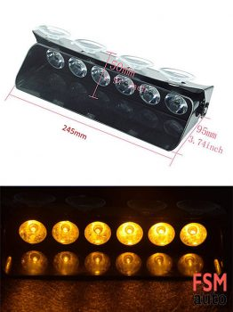 Araç Cam Önü Sarı Çakar LED Lamba