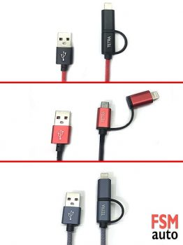 USB 2.1A Android / İOS Data ve Şarj Kablosu