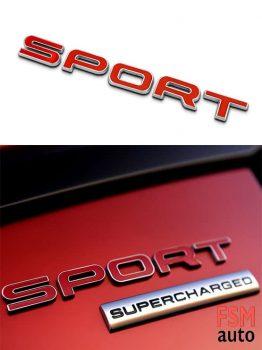 3D Sport Yazısı Metal 3M Çift Taraflı Bantlı Amblem