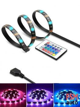 RGB Kumandalı 3528 SMD (3 Çipli) Şerit LED 5 Metre