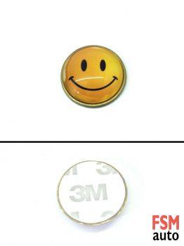 Gülücük Smile Yuvarlak Metal Damla Logo