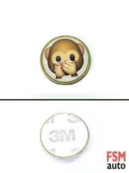 Sağır Maymun Yuvarlak Metal Damla Logo