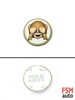 Kör Maymun Yuvarlak Metal Damla Logo