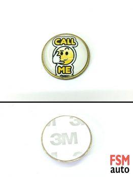 Call Me - Ara Beni Yuvarlak Metal Damla Logo