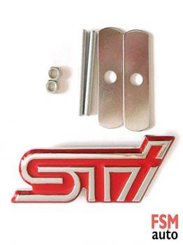 3D STİ Kırmızı Metal Vidalı Amblem