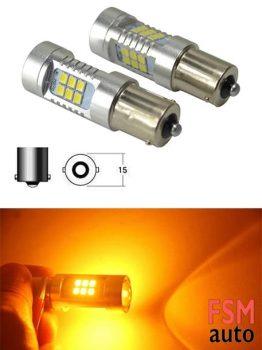 Yeni Tip Turuncu Mercekli 93 P21W Soket Girişli LED Ampul