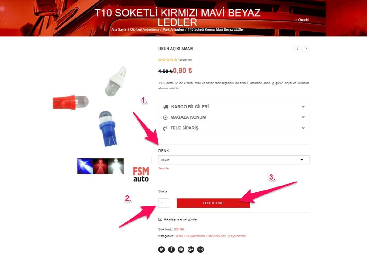 sipariş nasıl verilir fsmauto.com