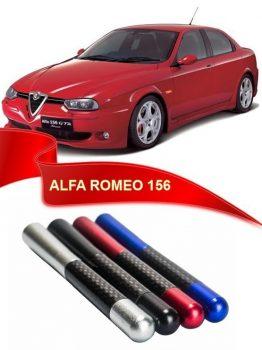 Alfa Romeo Uyumlu Karbon Desenli Metal Çubuk Radio Anteni