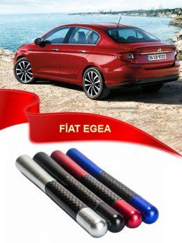 Fiat Egea Uyumlu Karbon Desenli Çubuk Metal Radio Anteni