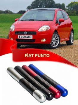 Fiat Punto Uyumlu Karbon Desenli Çubuk Metal Radio Anteni