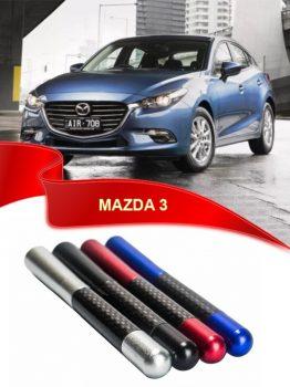 Mazda 3 Uyumlu Karbon Desenli Çubuk Metal Radio Anteni