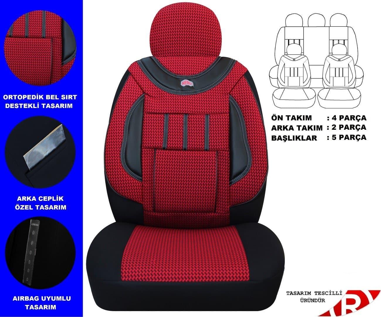 oto koltuk kılıfı renk seçenekli