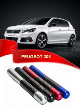 Peugeot 308 Uyumlu KarbonDesenli Çubuk Metal Radio Anteni