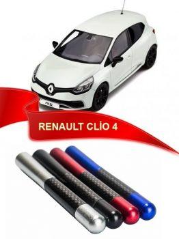 Renault Clio 4 Uyumlu Karbon Desenli Metal Çubuk Radio Anten