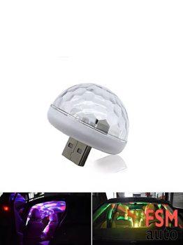 Sese Duyarlı Mini Disko Topu USB Girişli