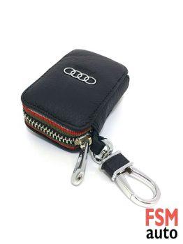 Audi Anahtarlık Fermuarlı Deri Çanta