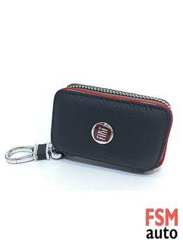 Fiat Anahtarlık Fermuarlı Deri Çanta