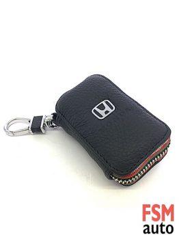 Honda Anahtarlık Fermuarlı Deri Çanta