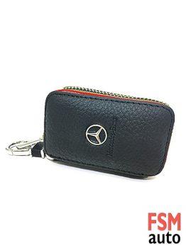 Mercedes Anahtarlık Fermuarlı Deri Çanta