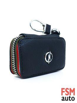 Opel Anahtarlık Fermuarlı Deri Çanta