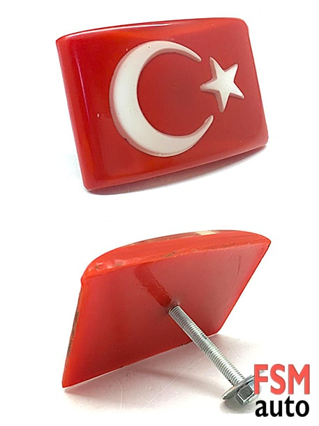 türk bayrağı panjur arması vidalı tip