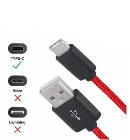 FAST Örgülü Hızlı Telefon Şarj Cihazı USB C Tipi Data Kablosu