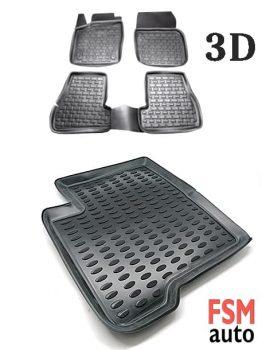 3D Paspas Honda CRV 2013 Sonrası Uyumlu Siyah Paspas