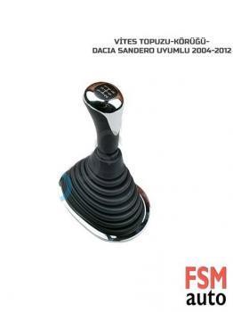 Dacia Sandero 2004 - 2012 Arası Uyumlu Vites Topuzu ve Körüğü Seti
